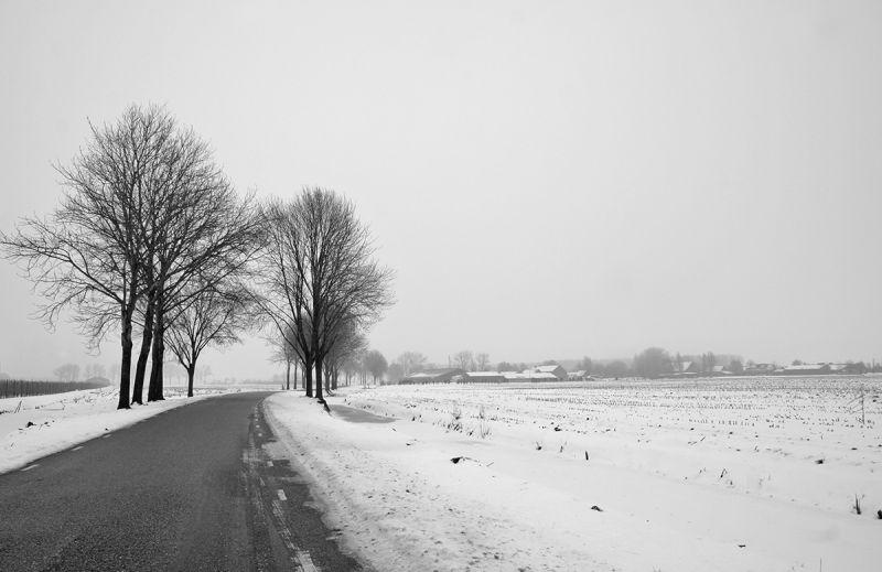 holanda ameide inverno neve caminho