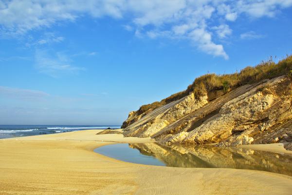 praia mar reflexo s-pedro-de-moel