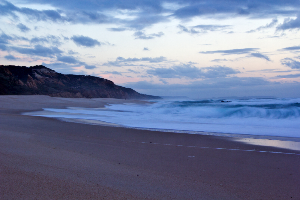 praia mar vale-furado sunset