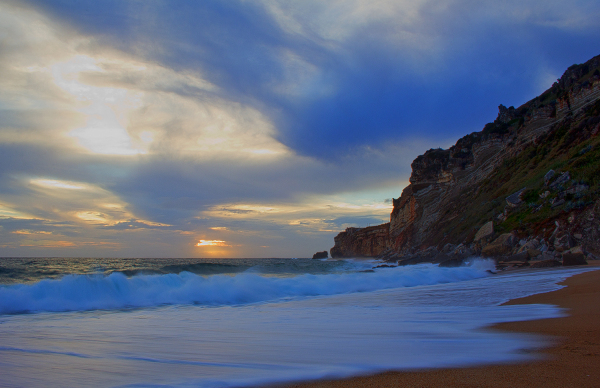 nazare sunset