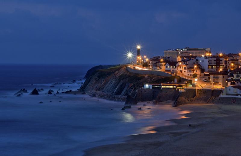 cidade sunset praia mar s-pedro-de-moel farol