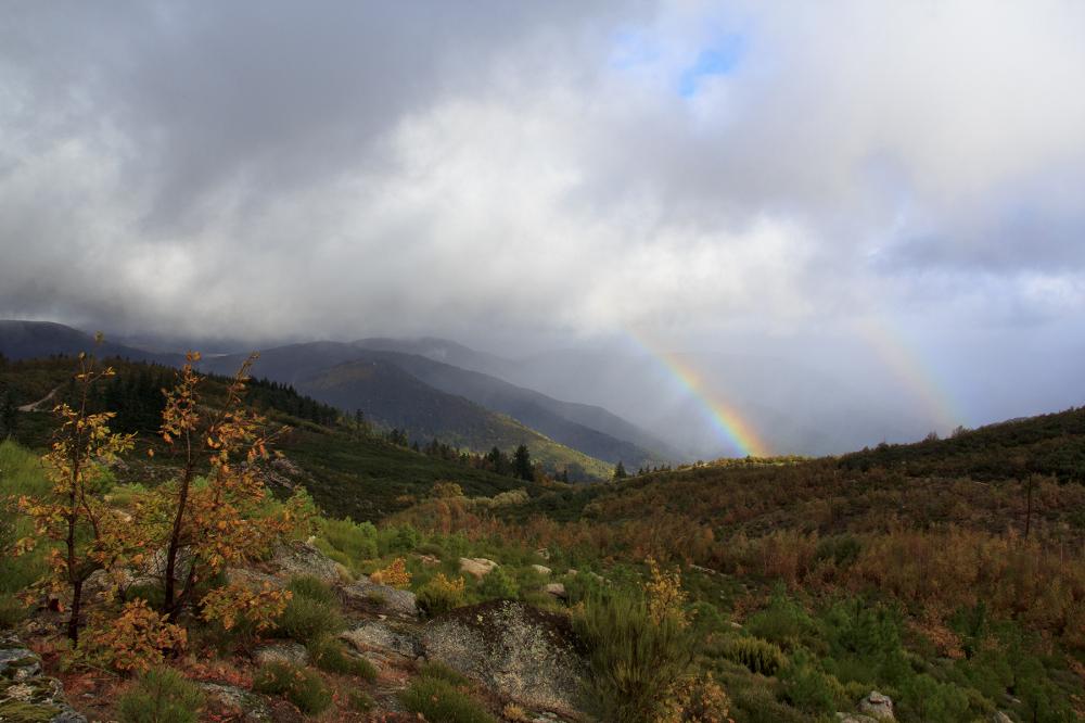 serraestrela outono arco-iris