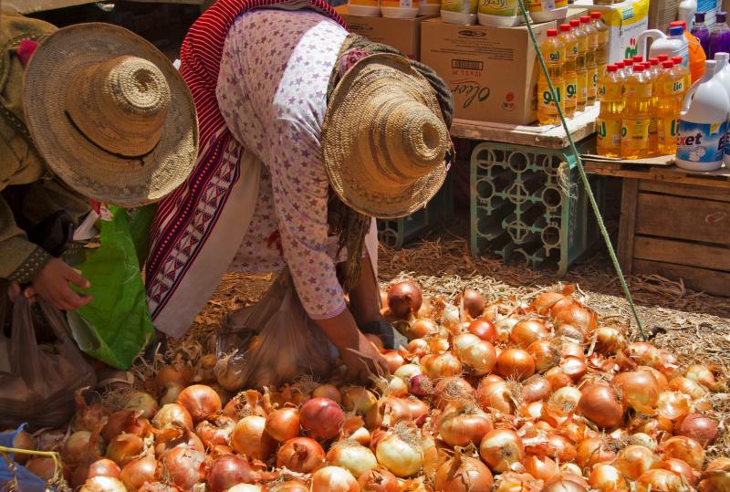 marrocos medina cebolas
