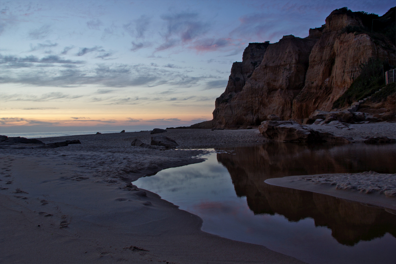 praia sunset areia rocha vale-furado