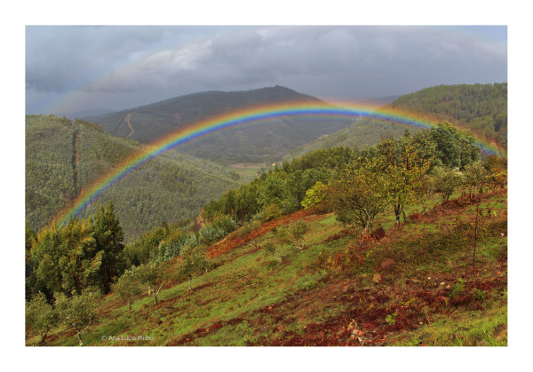lousã outono arco-iris