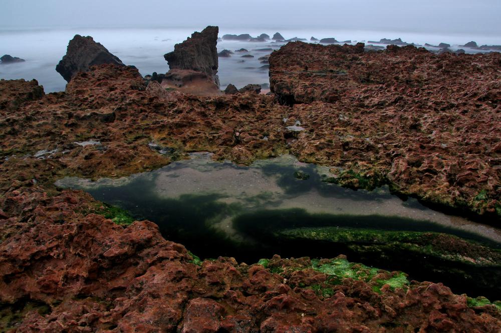 praia mar vale-furado nevoeiro
