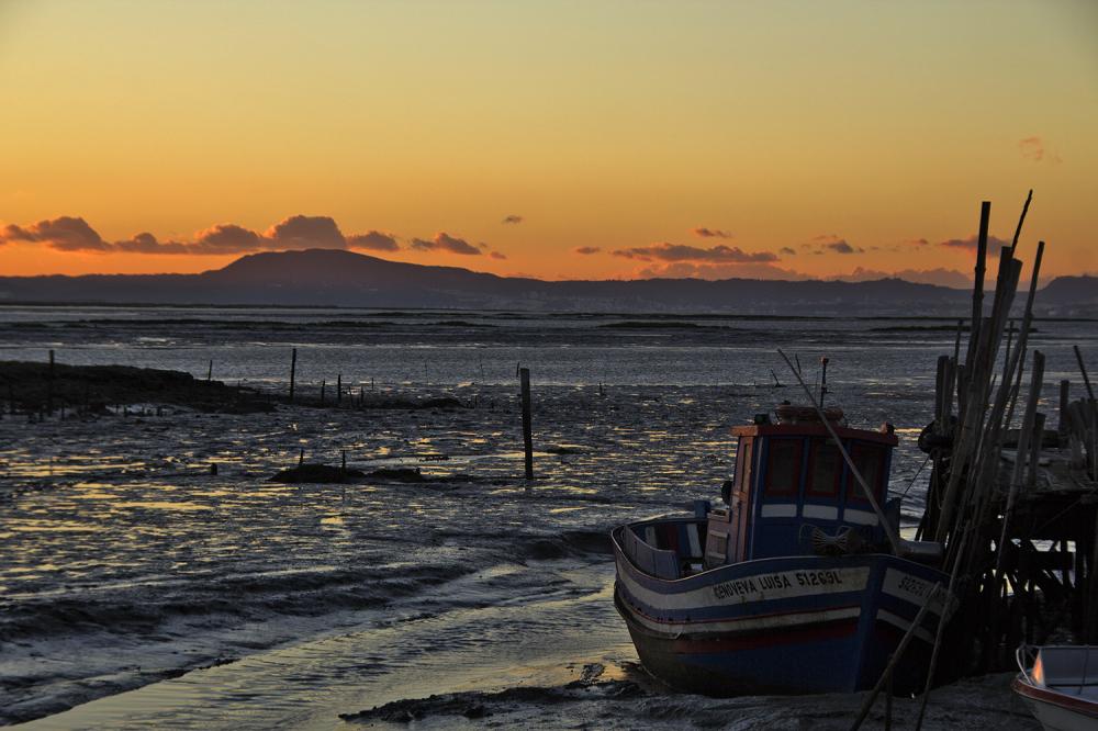 carrasqueira cais barcos sunset