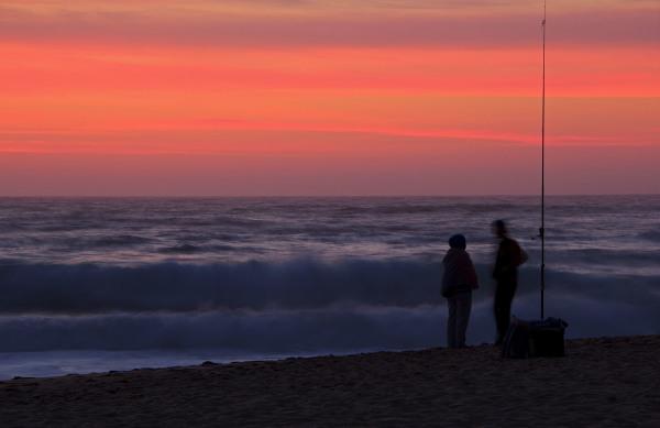 praia sunset adraga mar areia pescador