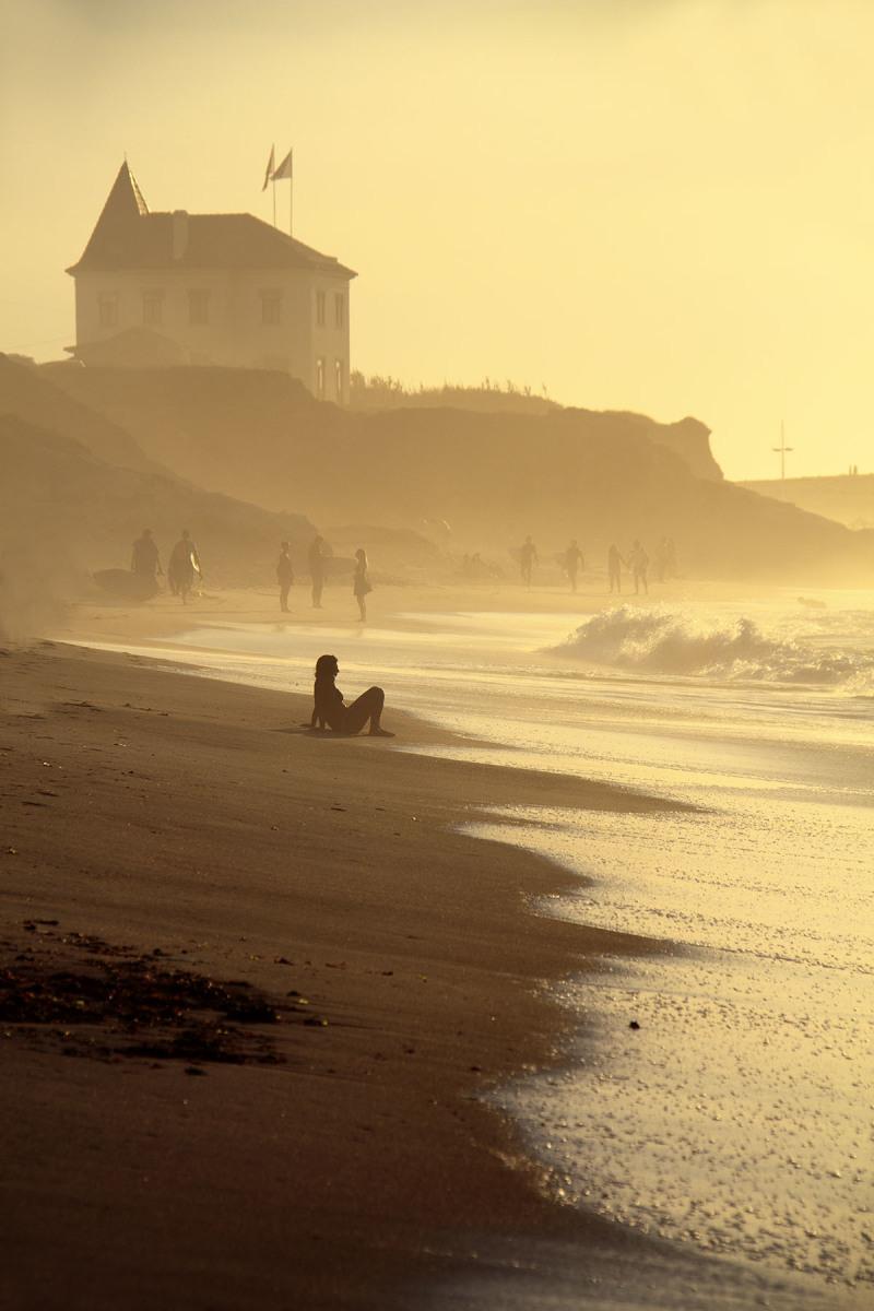 peniche  mar baleal   praia sunset