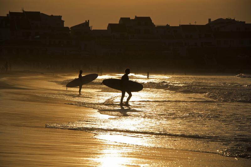 peniche  mar baleal   praia sunset surf