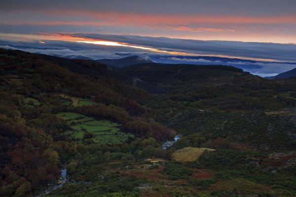 alvão nevoeiro outono sunset