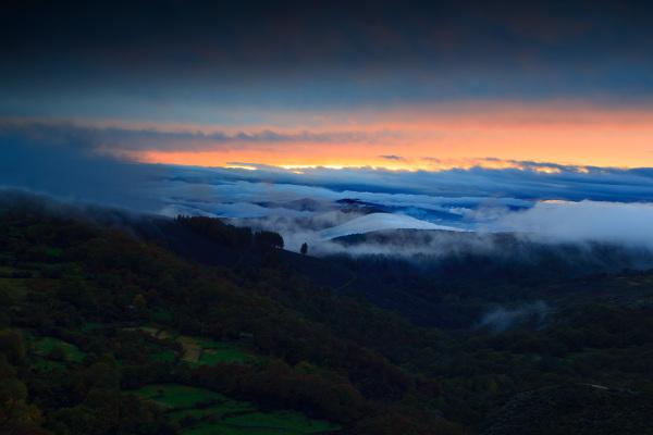 alvão outono montanha sunset