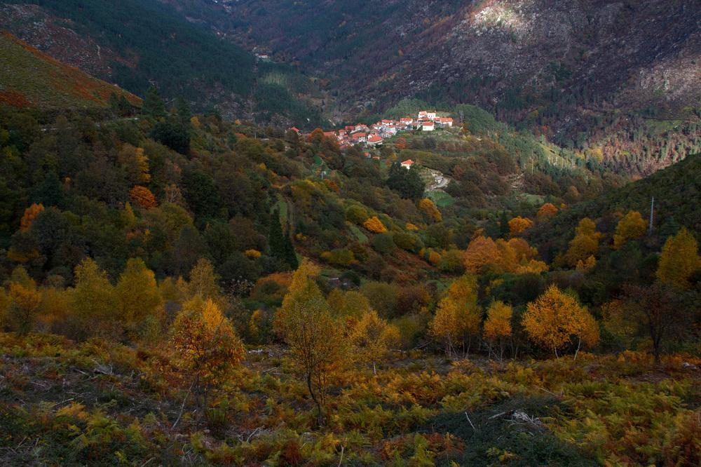 peneda-gerês montanha outono pinheiro aldeia