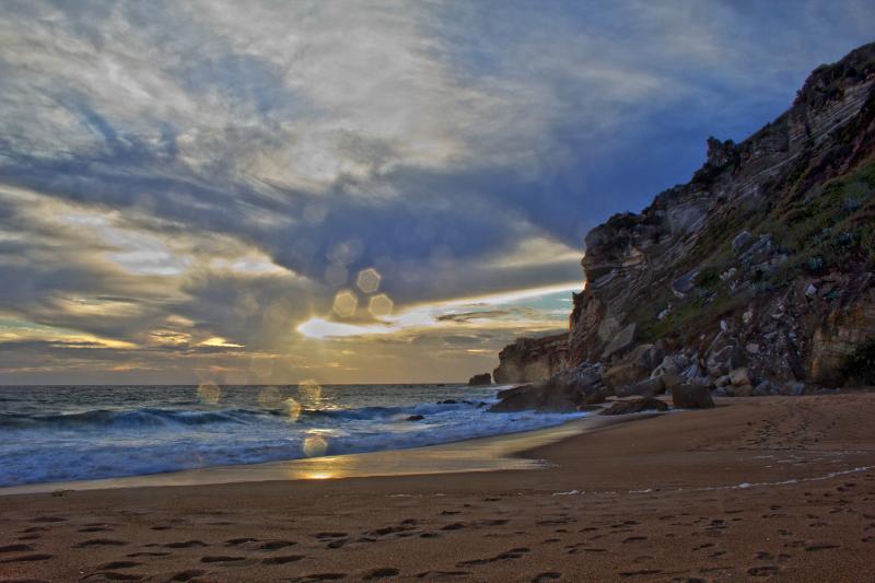 nazaré sunset mar praia