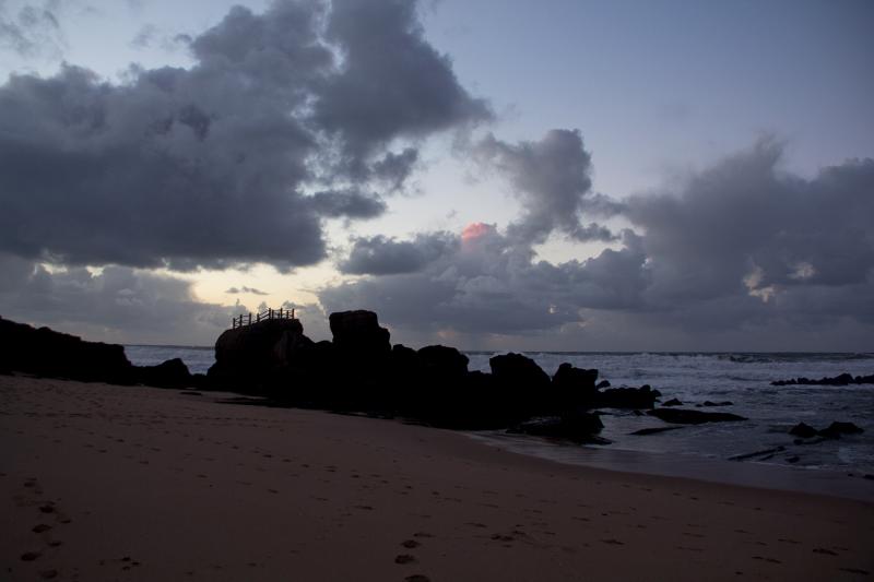 praia sunset Santa-Cruz