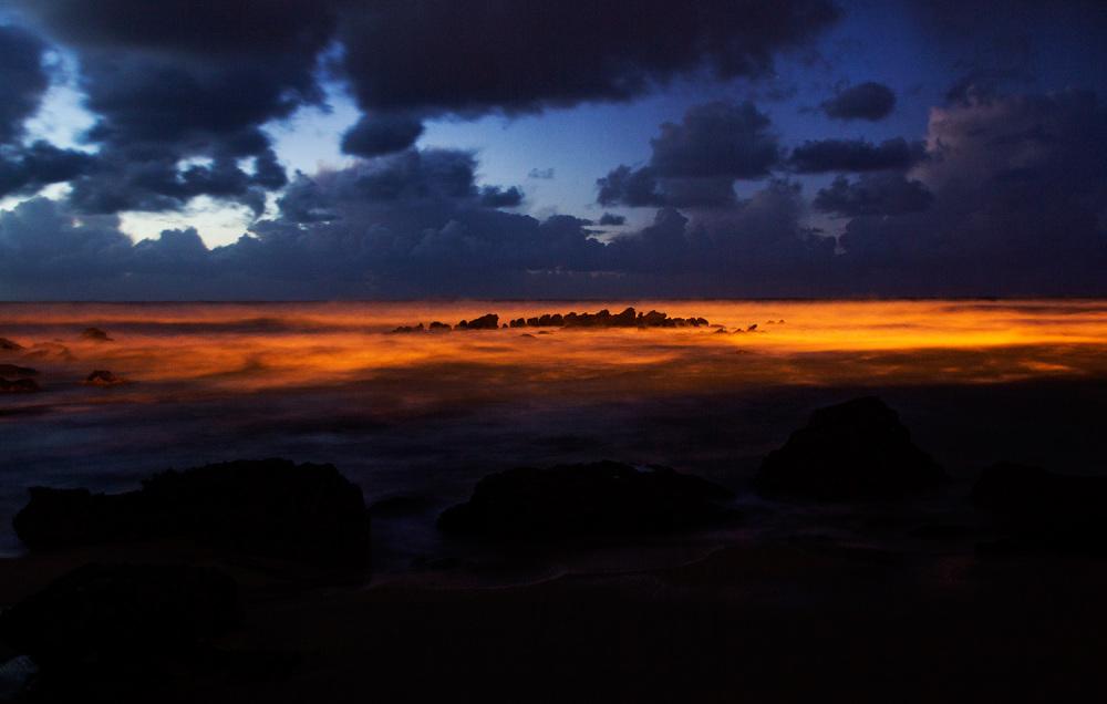 praia-de-Santa-Cruz mar sunset