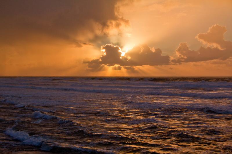 mar praia sunset