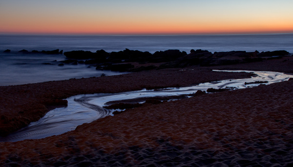 praia vale-furado sunset