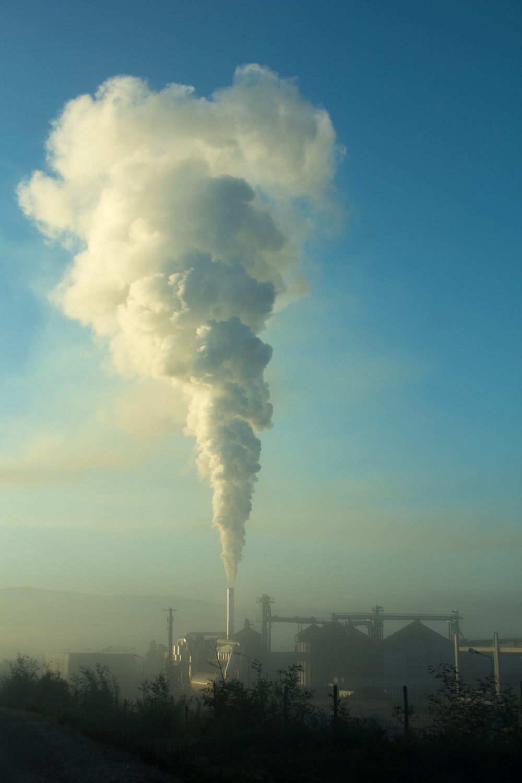 sunrise industria outono nevoeiro