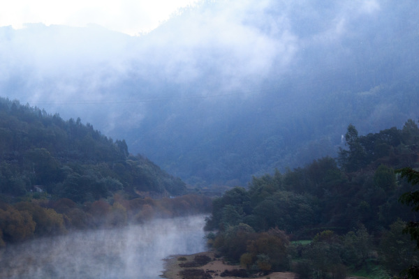 rio coimbra nevoeiro inverno mondego