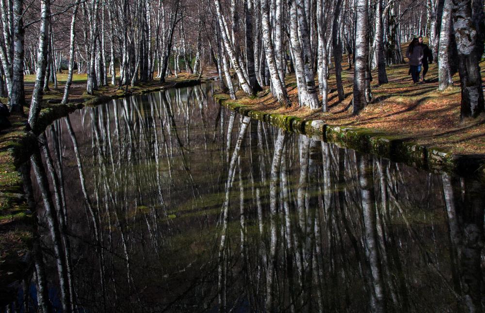 serraestrela covão-da-ametade inverno reflexo rio