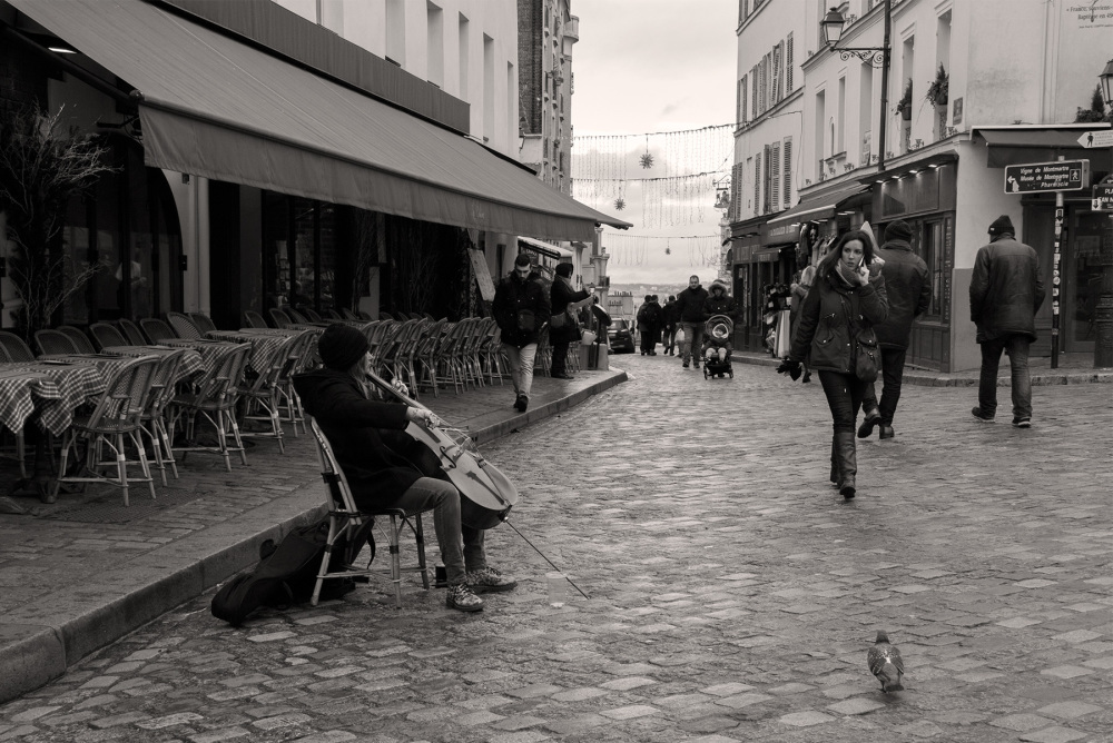 France paris Montmartre artista musica
