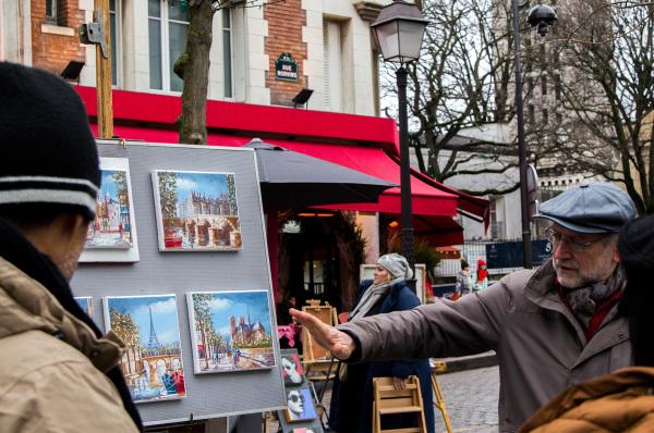 France paris Montmartre artista