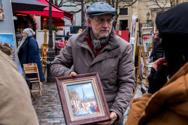 france paris montmartre artista