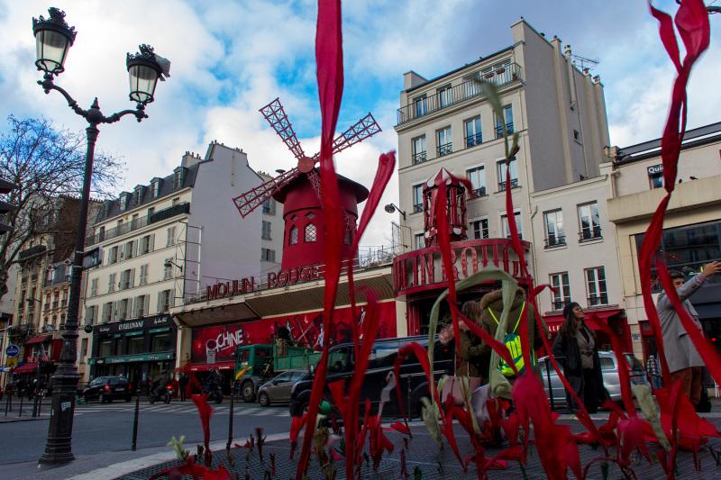 France paris Montmartre Moulin-Rouge