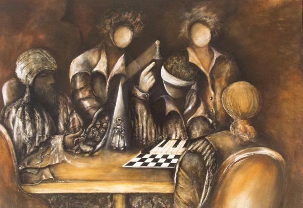 xadrez pintura leiria