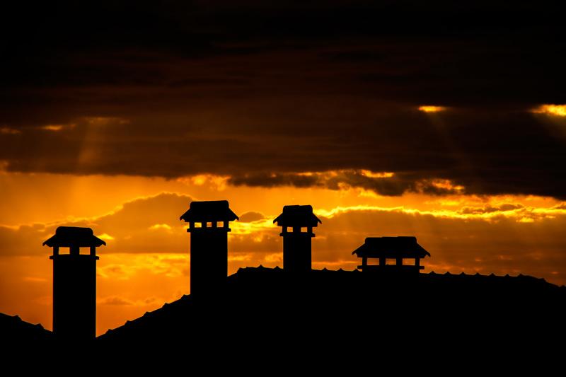 leiria sunset chaminé