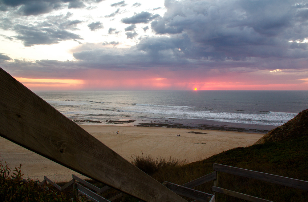 praia sunset polvoeira mar