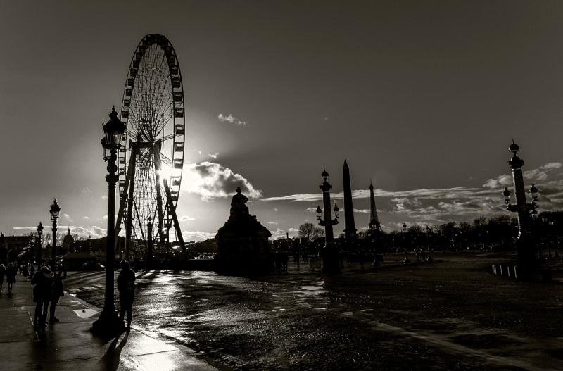 A roda gigante da Place de la Concorde
