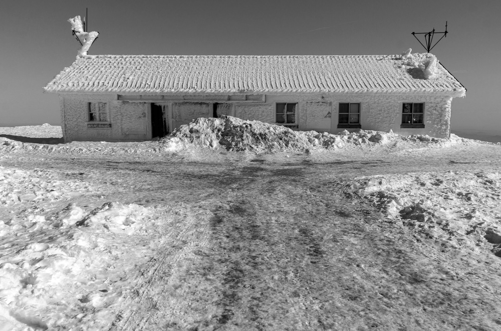 Uma casa na neve