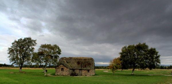 Cottage, site of Culloden Battlefield (Scotland)