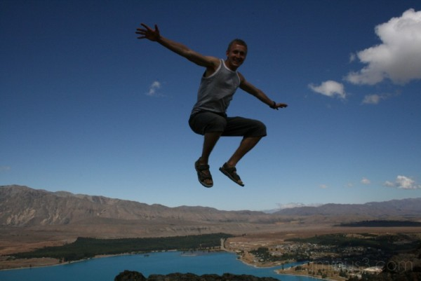 My brother flying