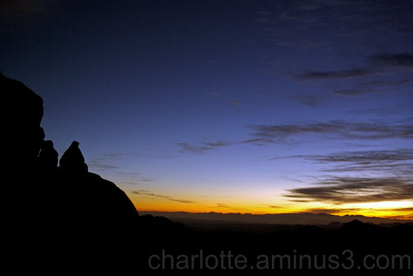 Sunrise on Sinai Mountain, Egypt