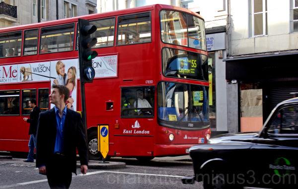 Man walking in London