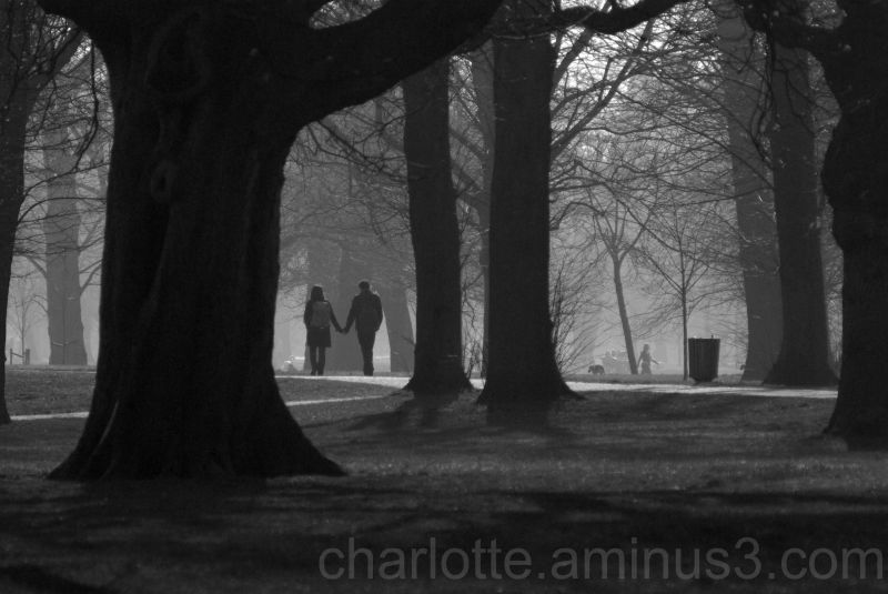 couple in the park, london