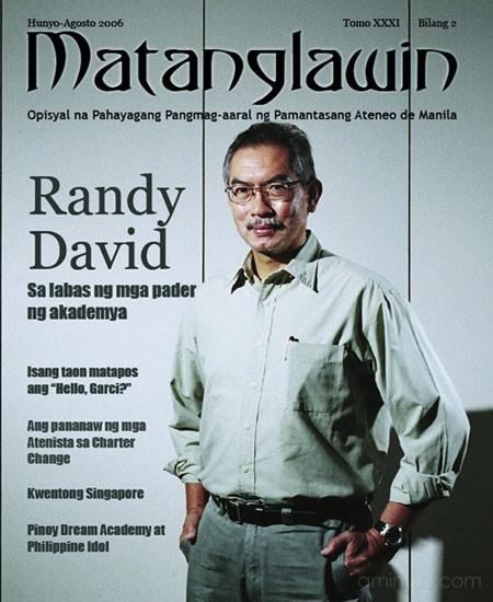 matanglawin issue 1 cover randy david