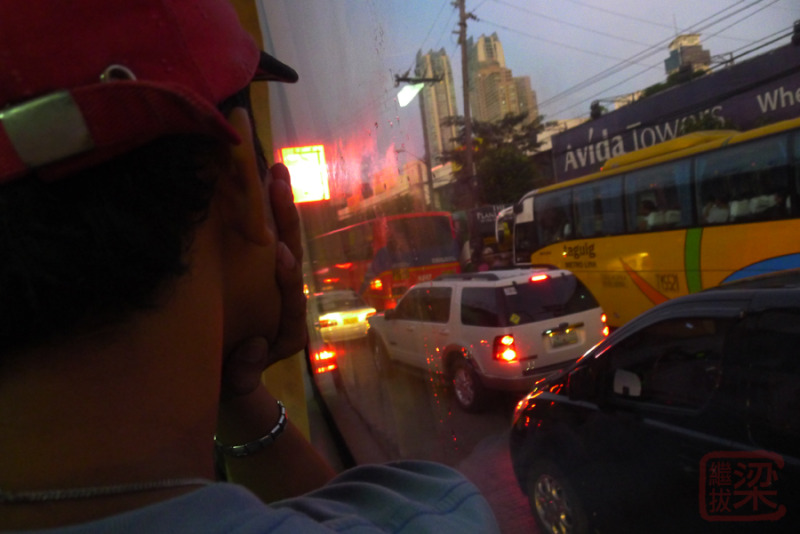 EDSA northbound traffic bus