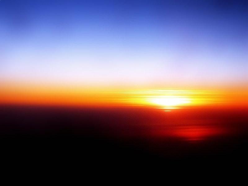 sunset,med