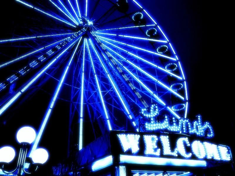big neon wheel