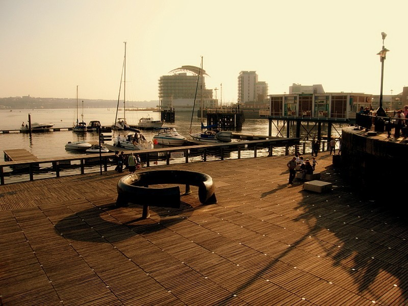 cardiff bay-sunset