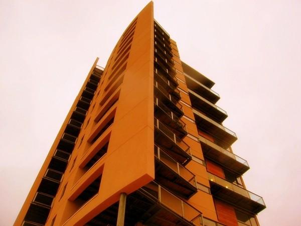 apartment block...