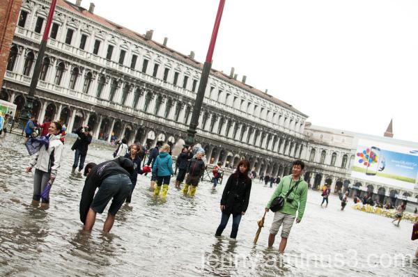 A flooded St Mark's