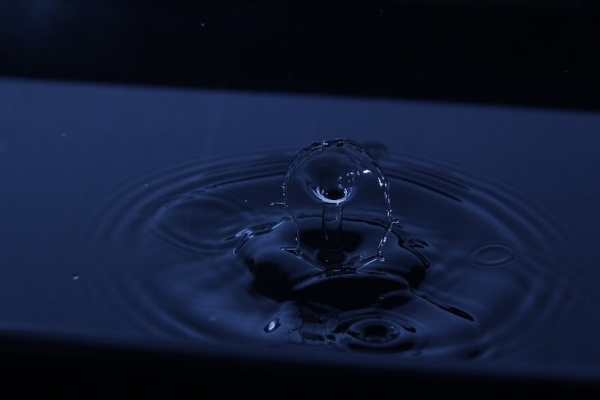 splash, drop, water, blue