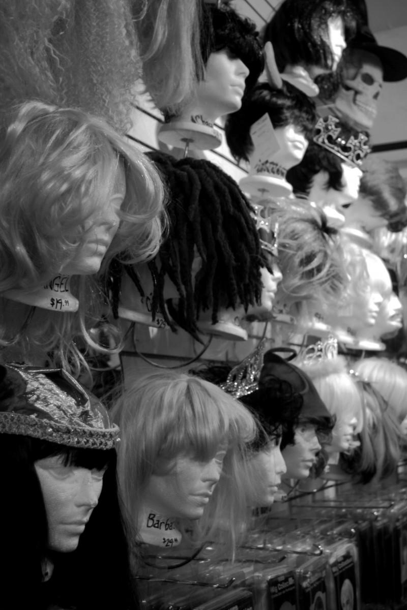 foam heads in ostume store