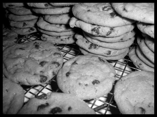 freshly baked cookies