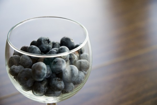 blueberries and wine glass
